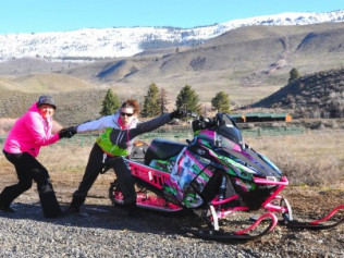 JESS KLINE EPIC SNOWMOBILE ADVENTURE!