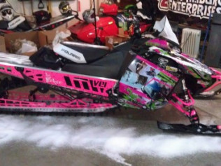 SLEDCHIX SLED BUILD 2013 POLARIS PRO