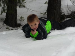 DYLAN AGE 6 SNOWMOBILING IS FOR ALL AGES!